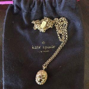 Kate Spade gold Hedgehog necklace